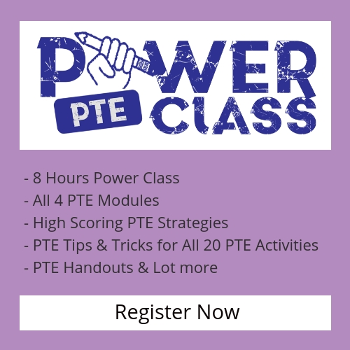 PTE Power Class at Sydney PTE Institute